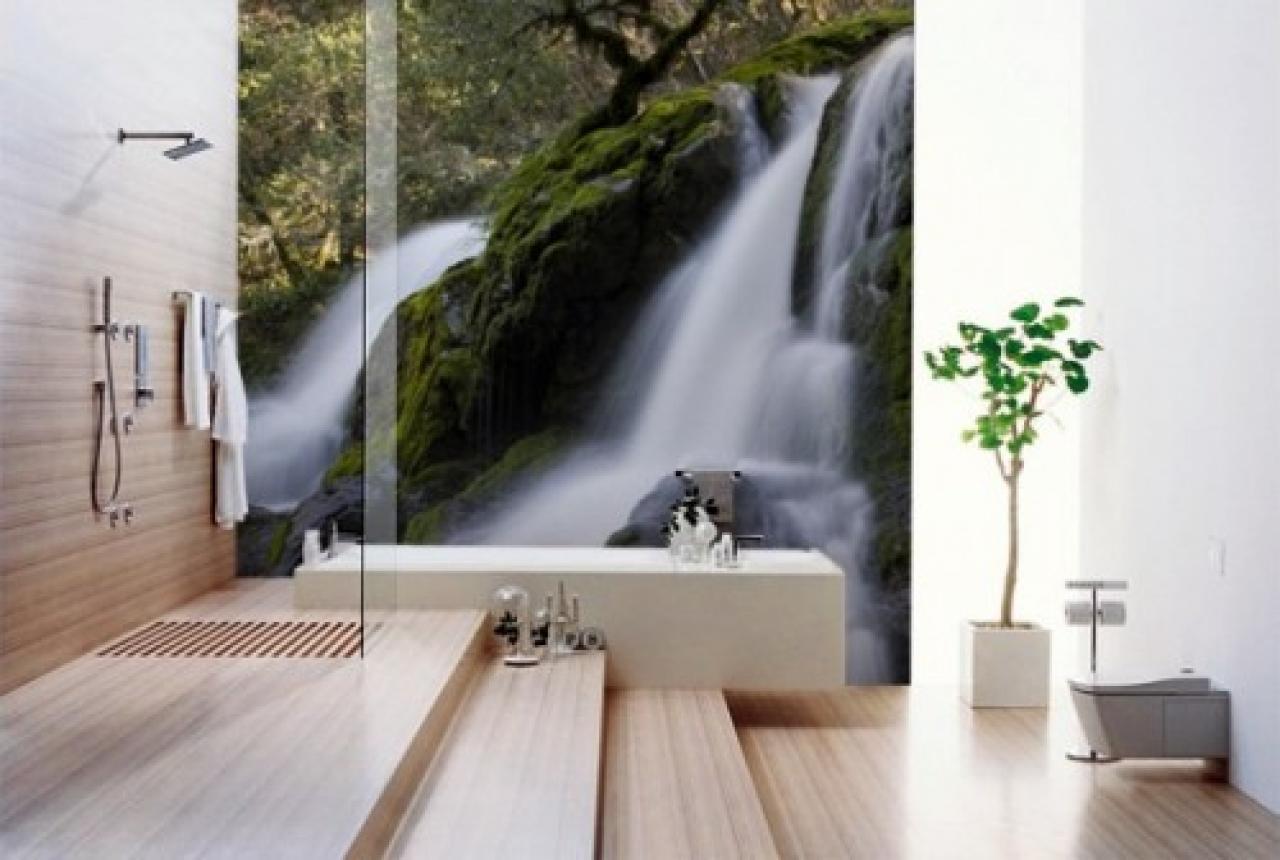 Modern bathroom wallpaper designs 1280x860