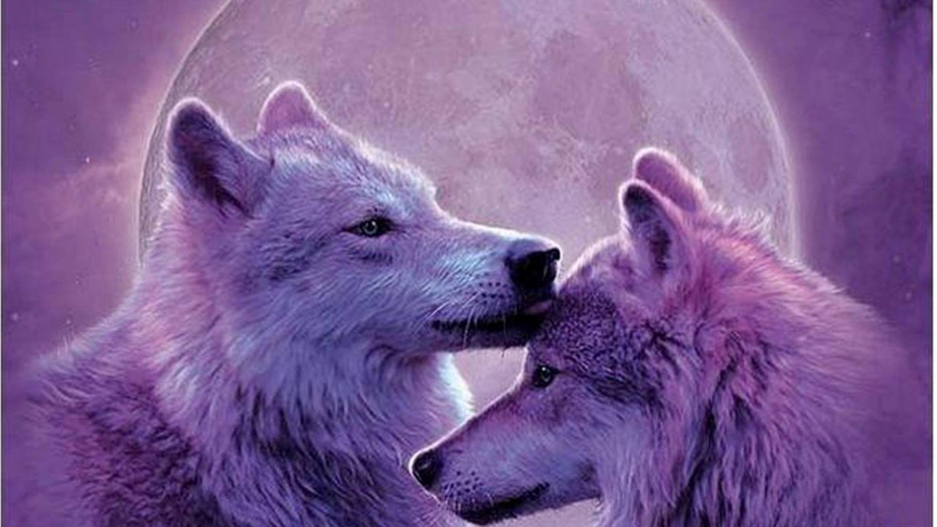 other moonwolves wolves animals painting moon nature wolf 53 1926x1083