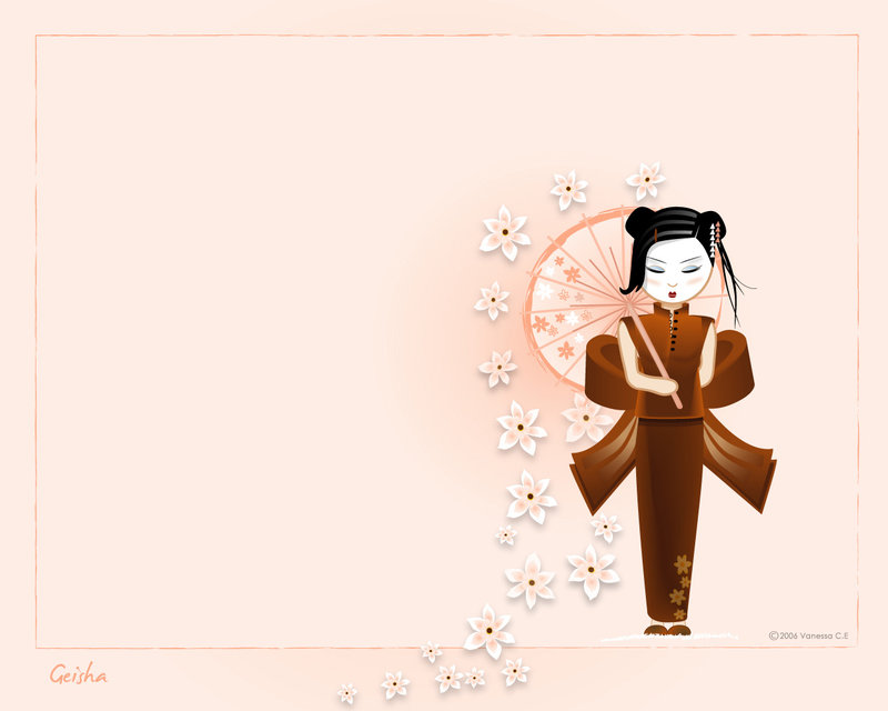 Geisha Wallpaper by oooAdAooo 800x640