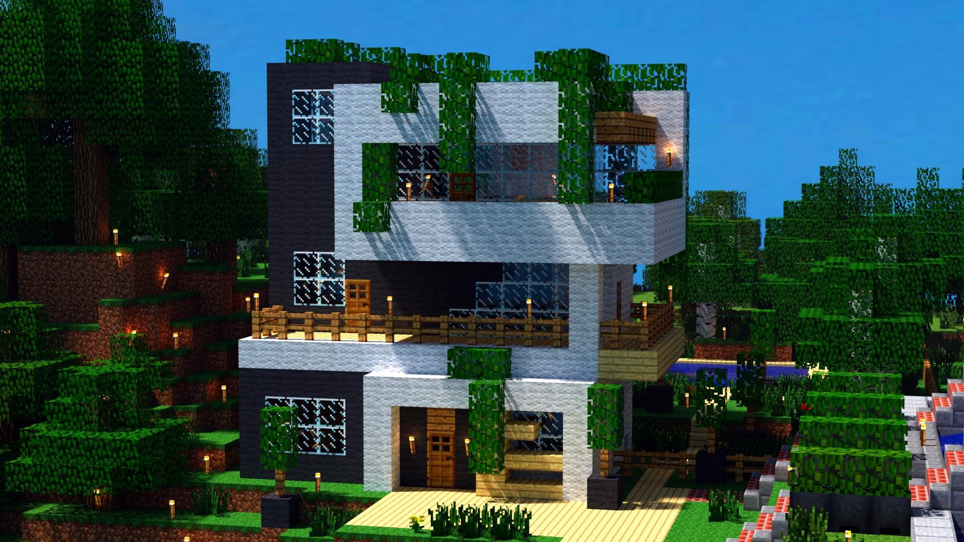 Awesome Minecraft Houses Wallpaper Awesome Minecraft 1920x1080