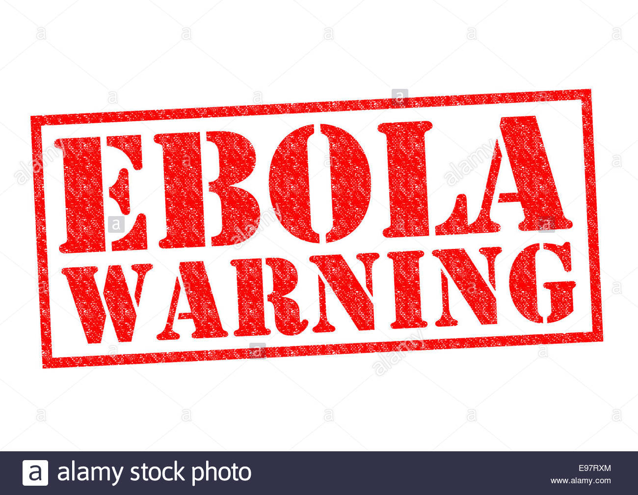 EBOLA WARNING red Rubber Stamp over a white background Stock Photo 1300x1008