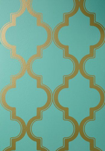 Hyde Park Temporary Wallpaper ModCloth This will be mine gold and 350x500