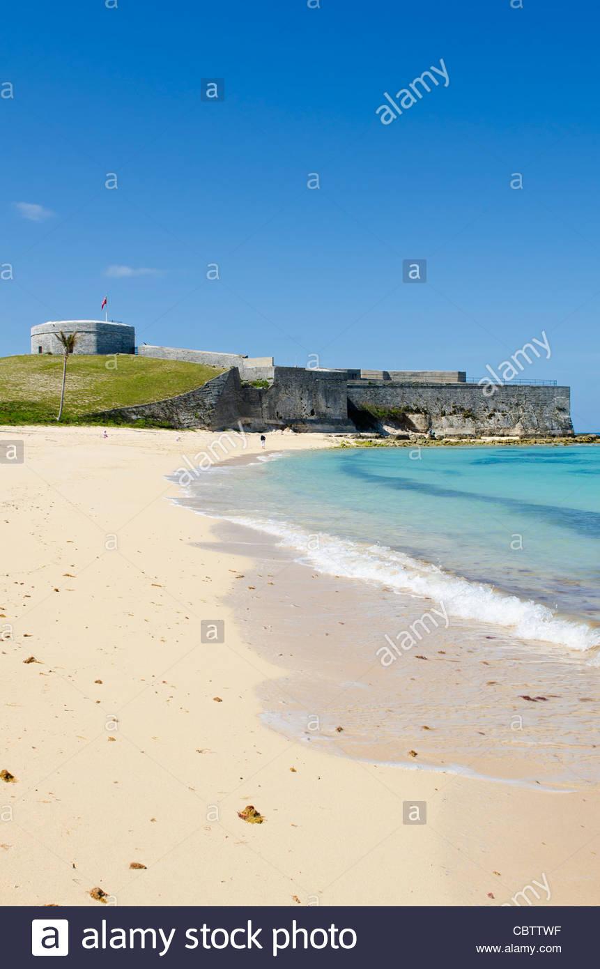 Bermuda Gates Bay Saint Catherines Beach with Fort St 861x1390