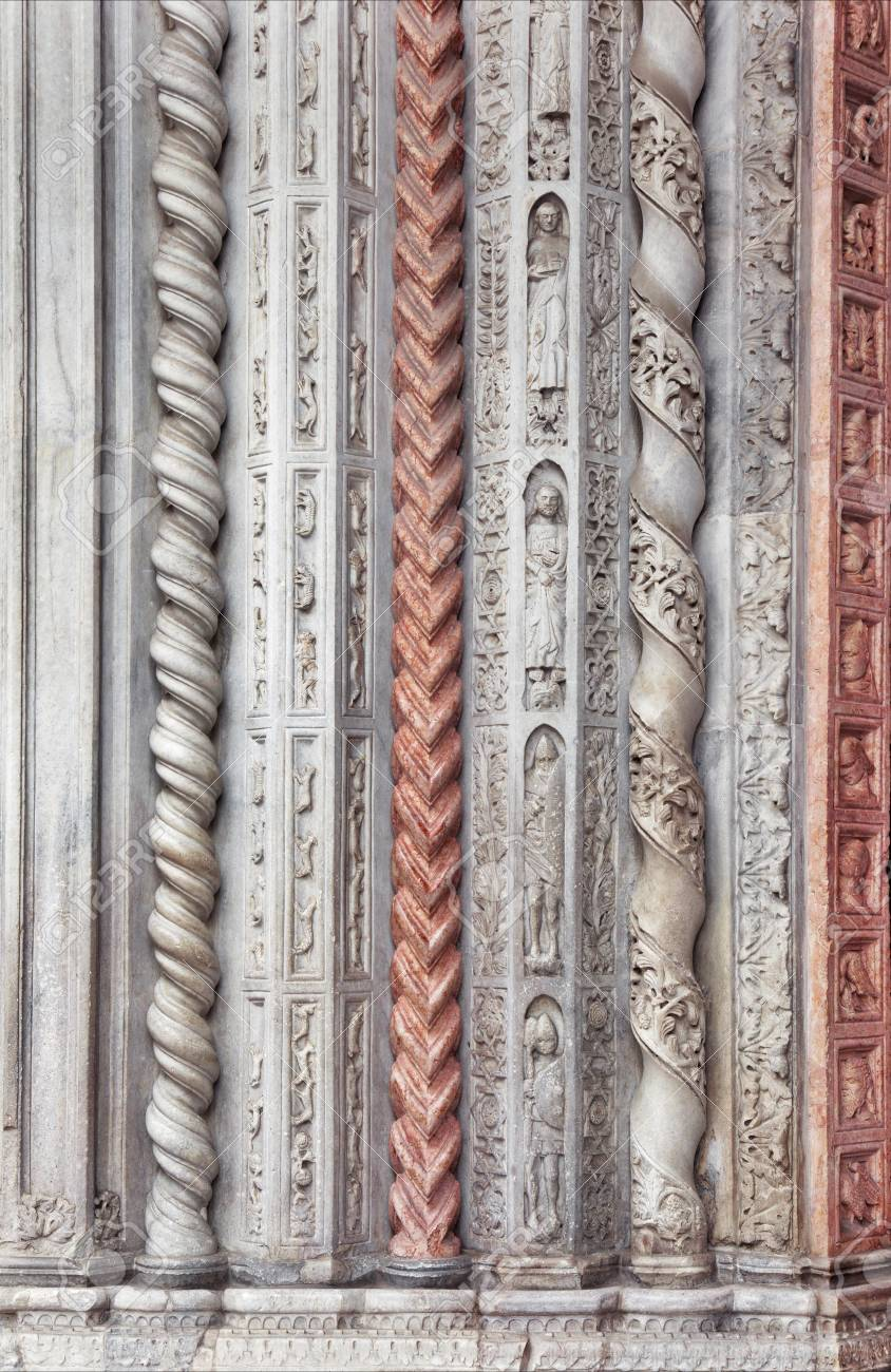 Romanesque Style Columns Background Stock Photo Picture And 844x1300
