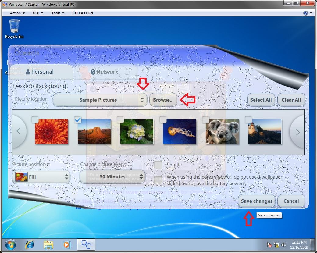 Windows 7 Desktop Background Wallpaper   Change in Windows 7 Starter 1040x830