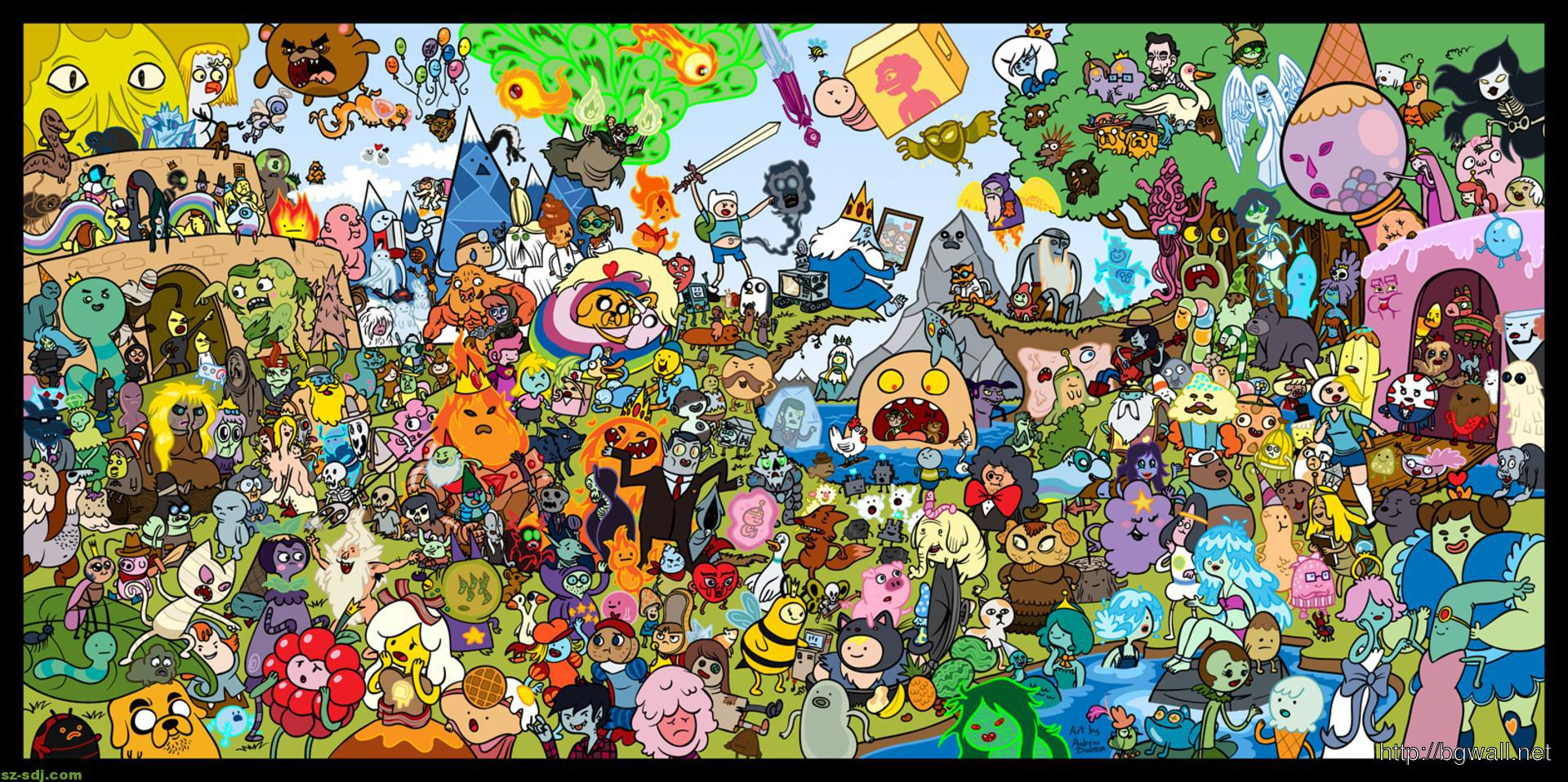 Adventure Time Characters Wallpapers   Top Adventure Time 1920x958