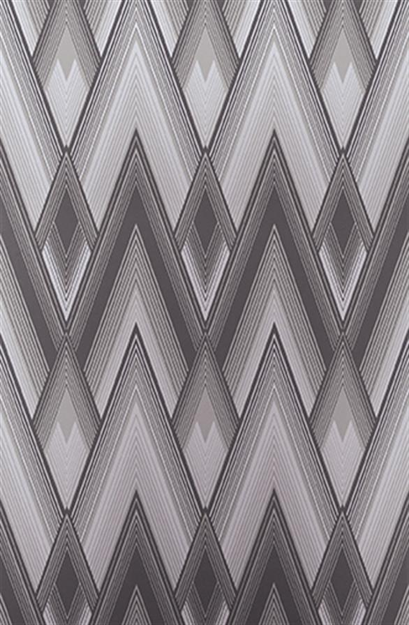 Astoria Wallpaper in Graphite and Silver from the Fantasque 586x896
