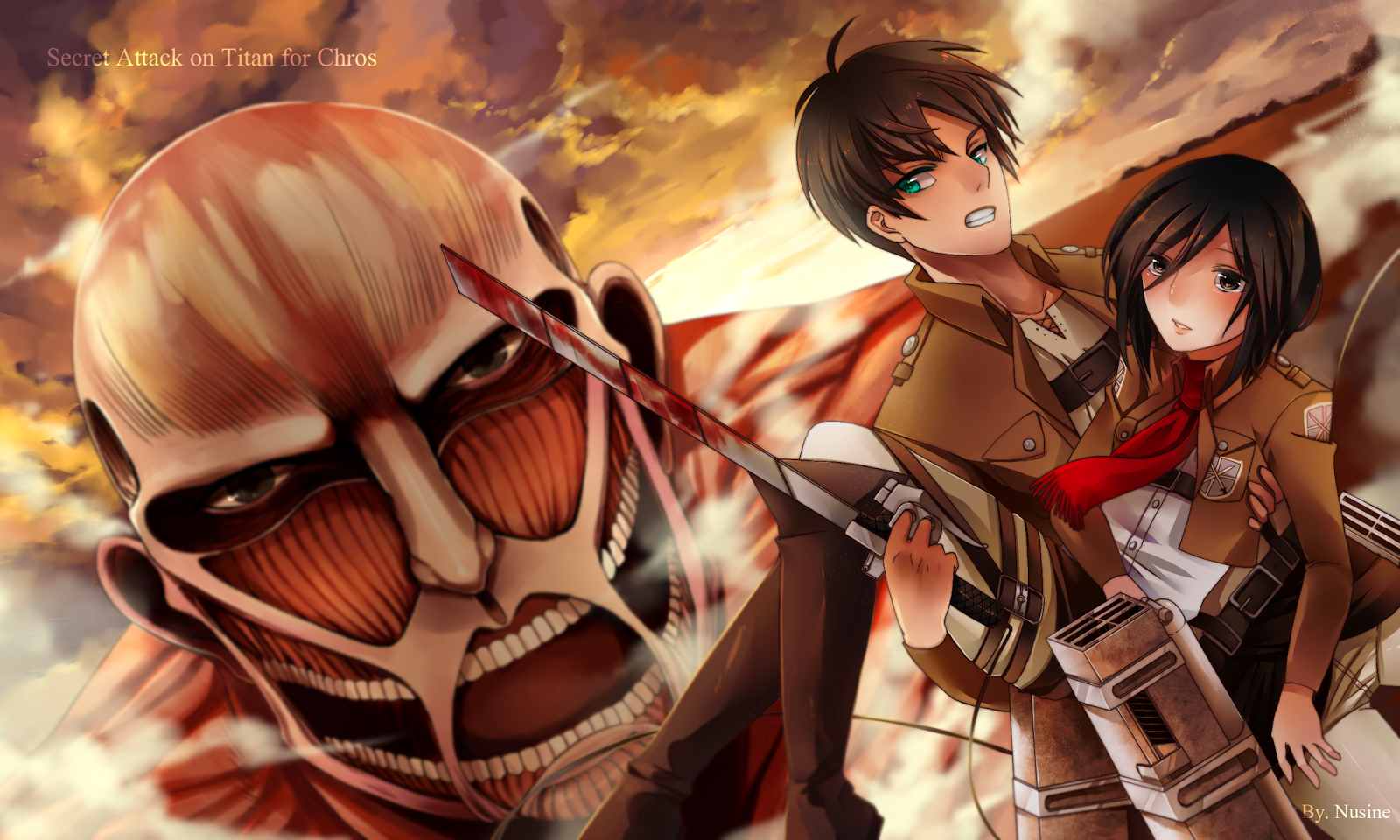 49+ Attack on Titan Wallpaper Eren on WallpaperSafari