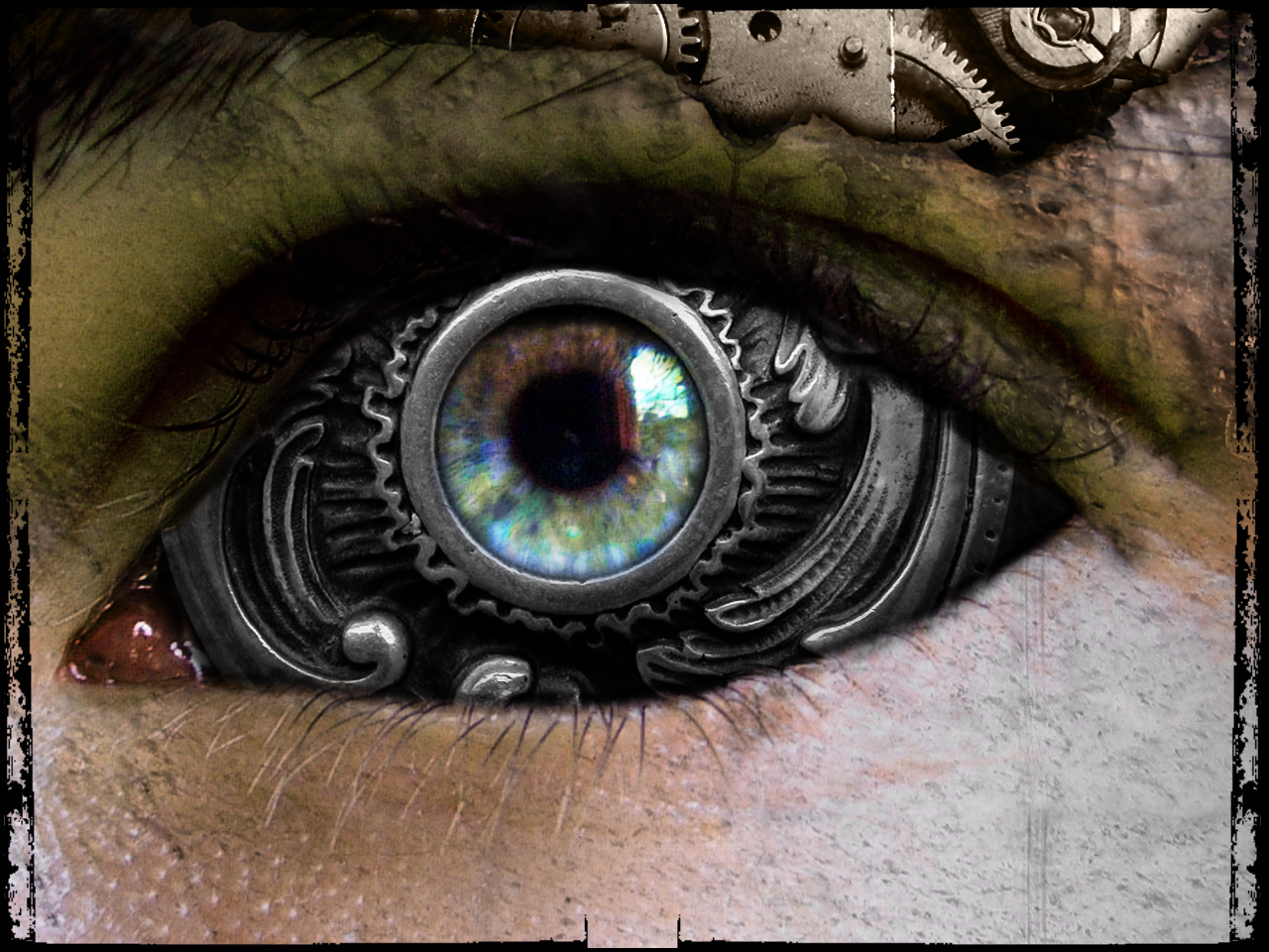 Eyes Steampunk Wallpaper 1280x960 Eyes Steampunk Iron 1280x960