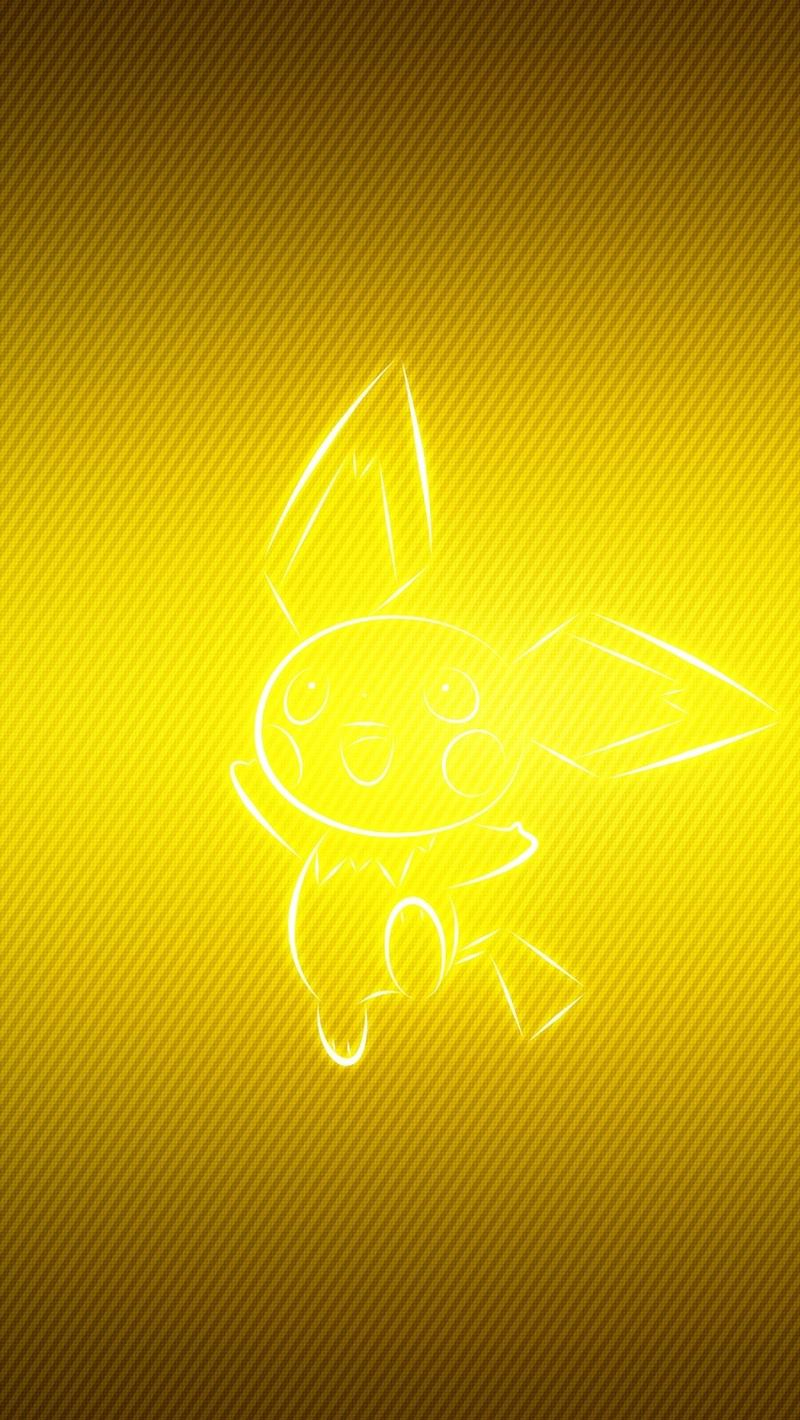 Download wallpaper 800x1420 pokemon yellow pichu iphone se5s5c 800x1420