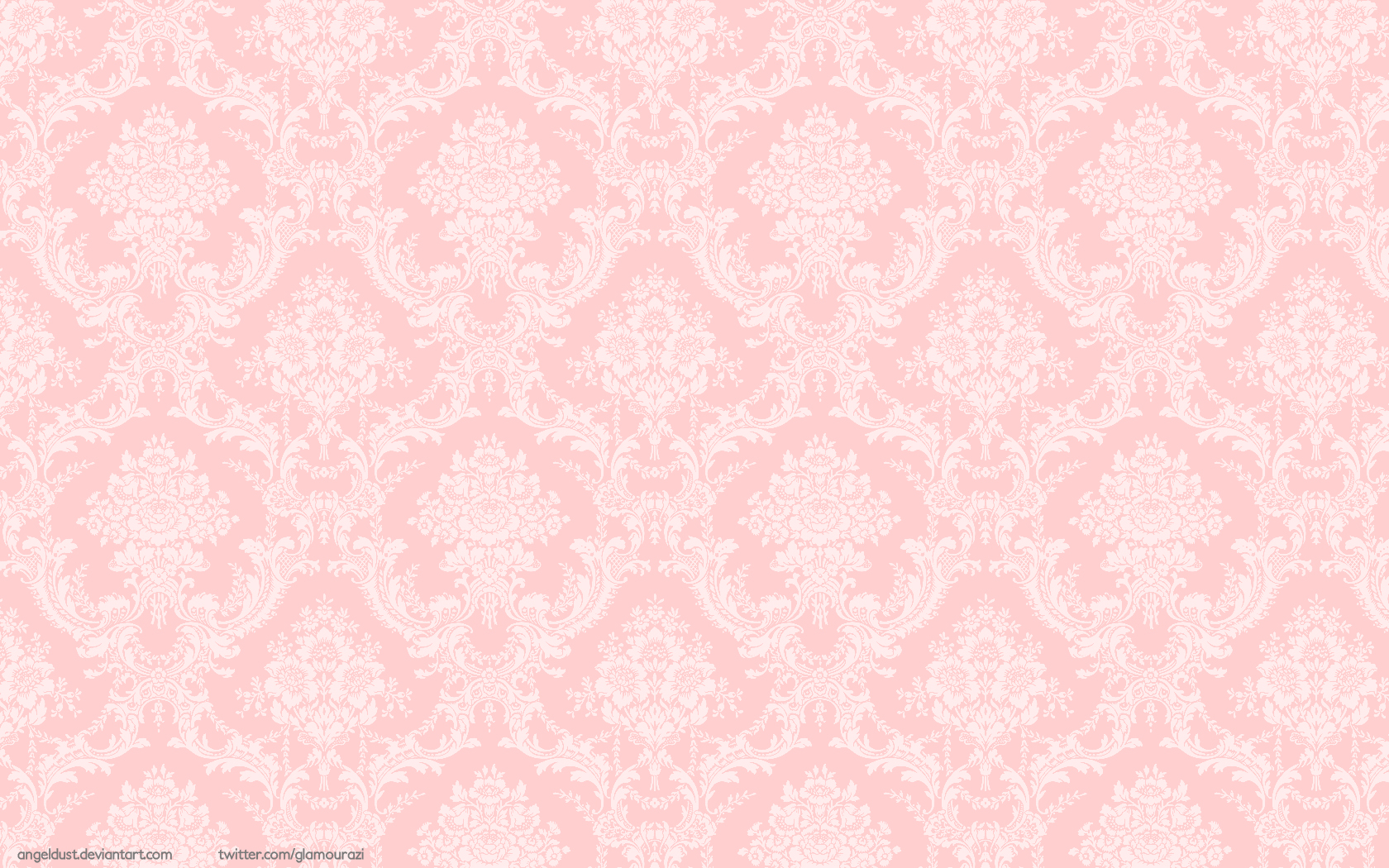 Pictures of Pink Gold Damask Wallpaper 1680x1050