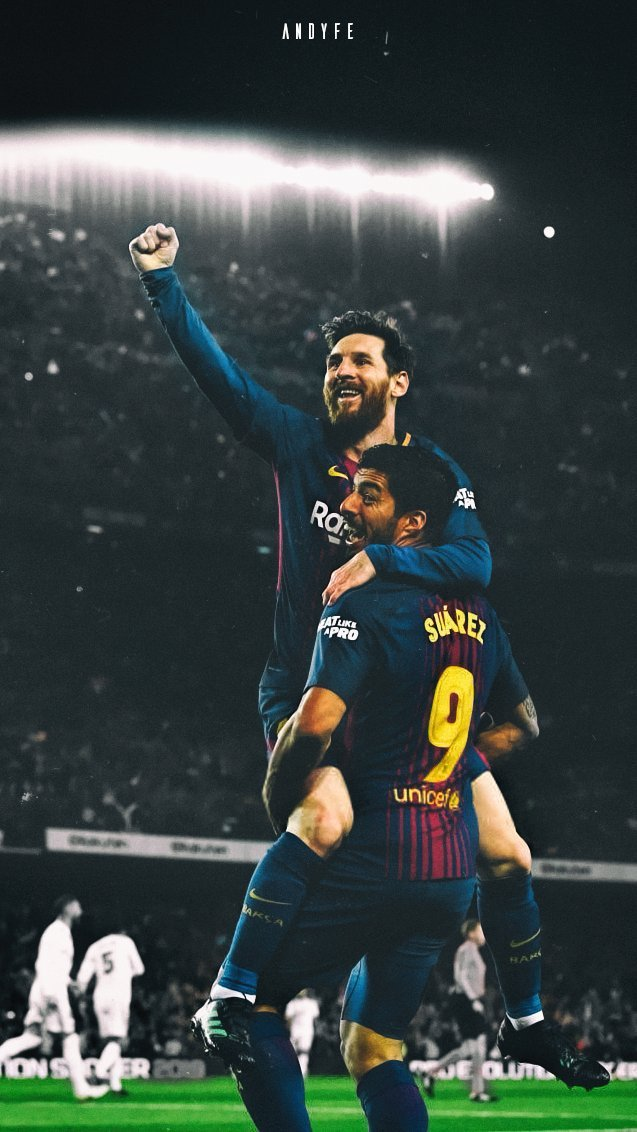 Andy on Twitter Lionel Messi ANd Luis Suarez Wallpaper RTs Are 637x1132