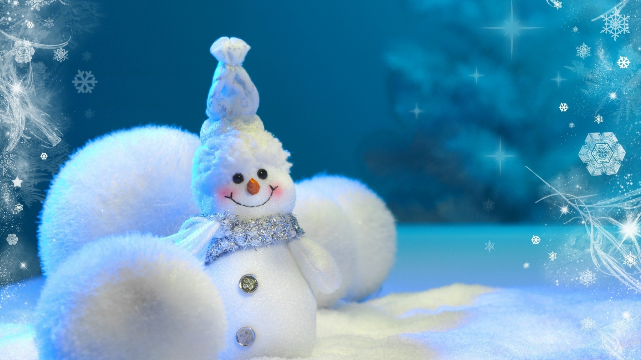 Cute Blue Snowman 2048 x 1152 Download Close 2048x1152