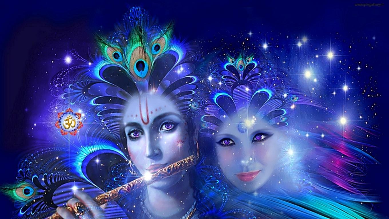 Lord Radhe Krishna Latest   Wallpaper by Priya Sharma   PixGallery 1360x768