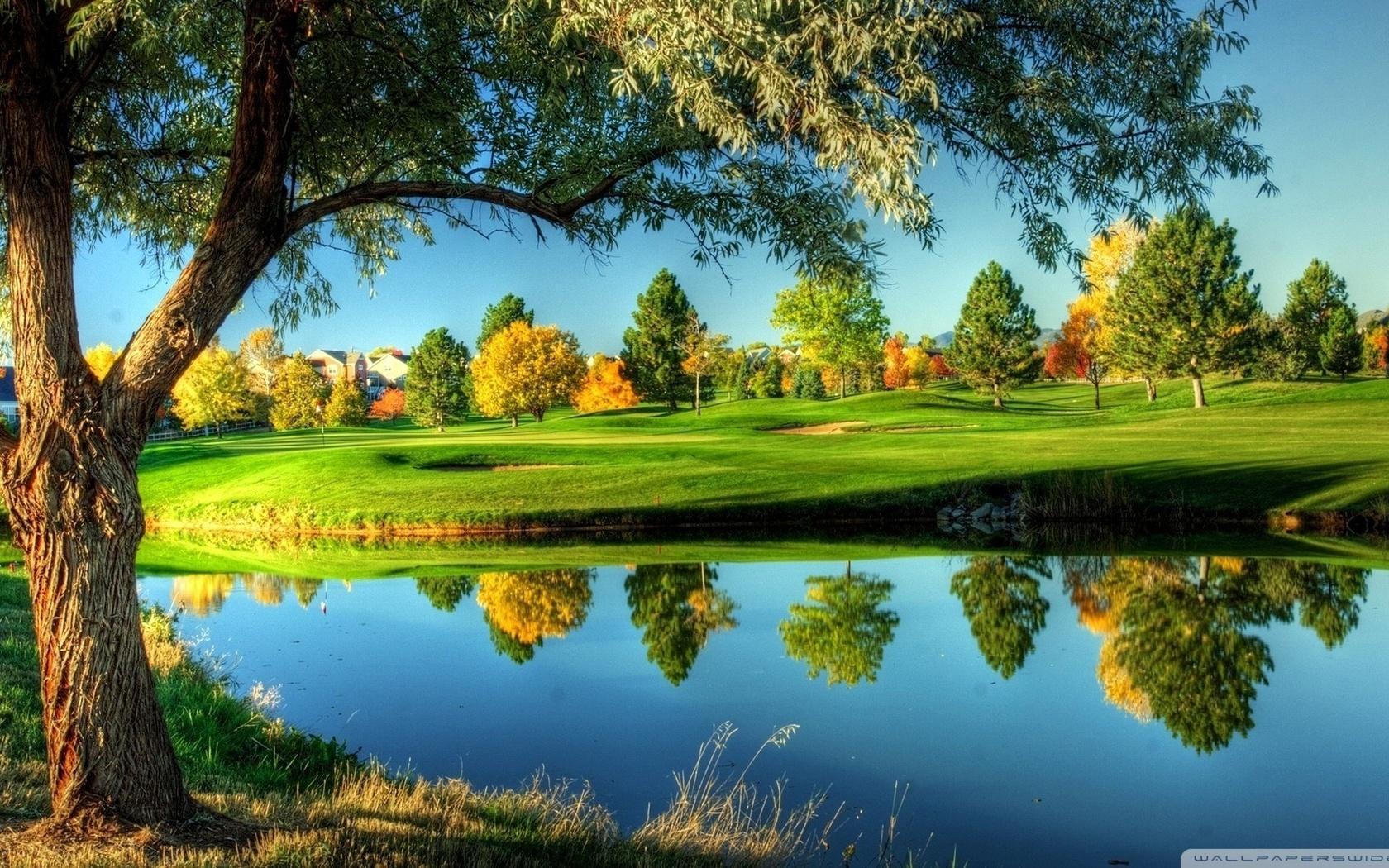 golf course wallpaper 1680x1050 1680x1050