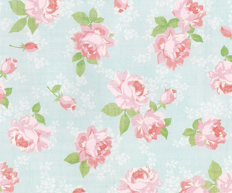 Showing Gallery For Vintage Flower Wallpaper 960x800