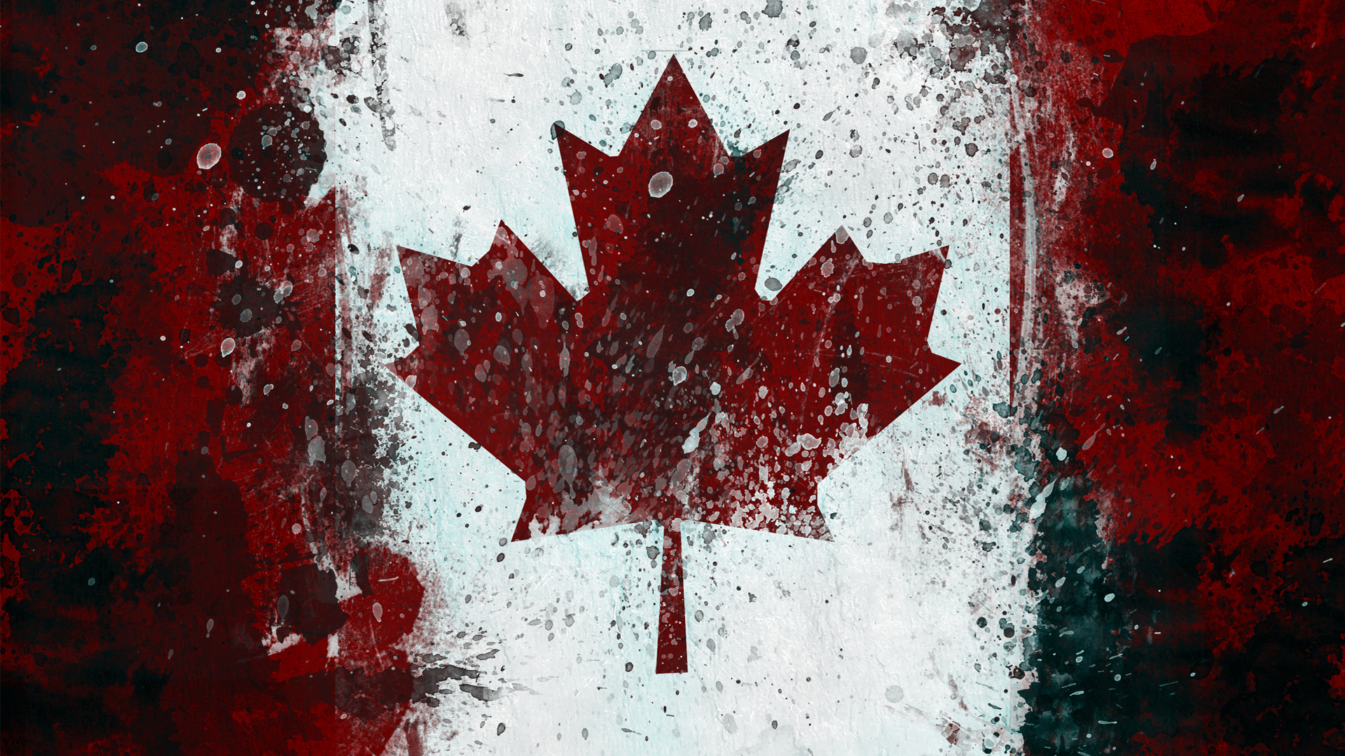 Wallpaper Canada Flag Art Desktop High Quality 1920x1080