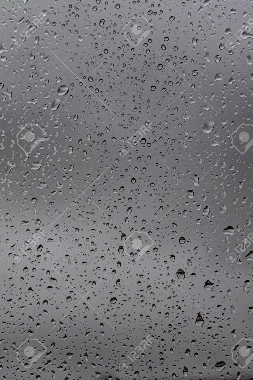 Raindrops On The Glass Gloomy Weather Gray Background Rain 866x1300