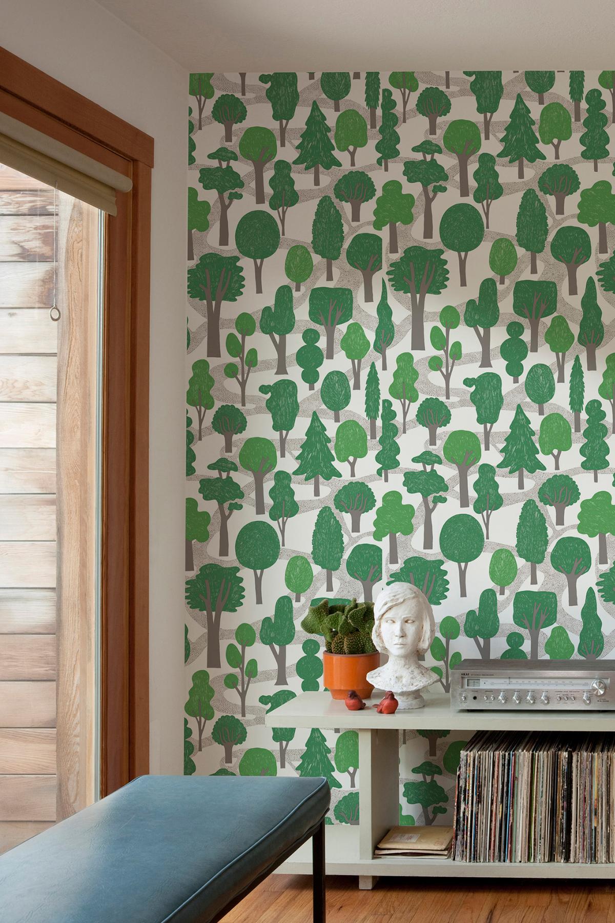 Zig Zag Wallpaper   Green Monument Interiors 1200x1800
