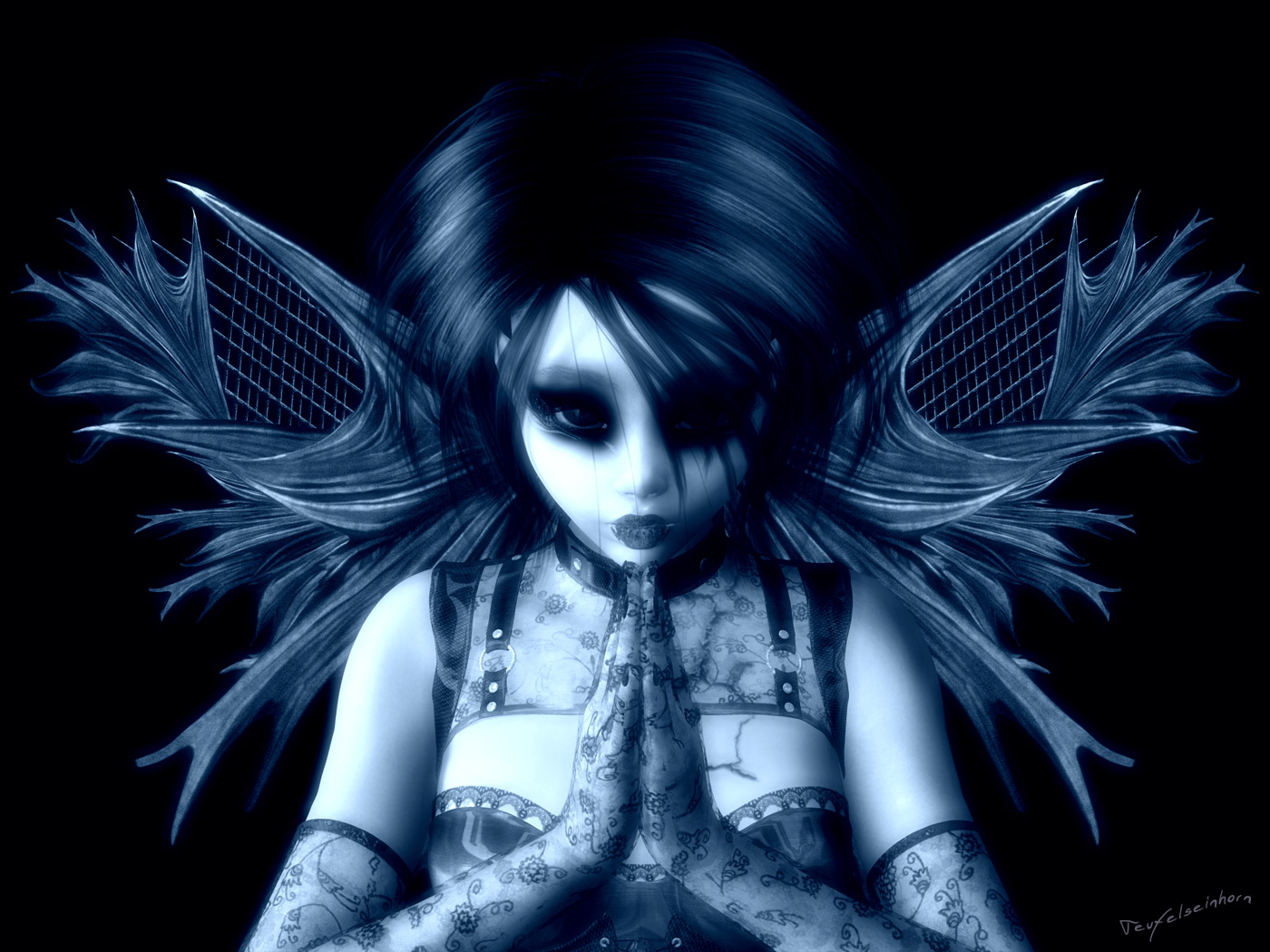 Anime Gothic Angel Wallpaper Wallpapersafari