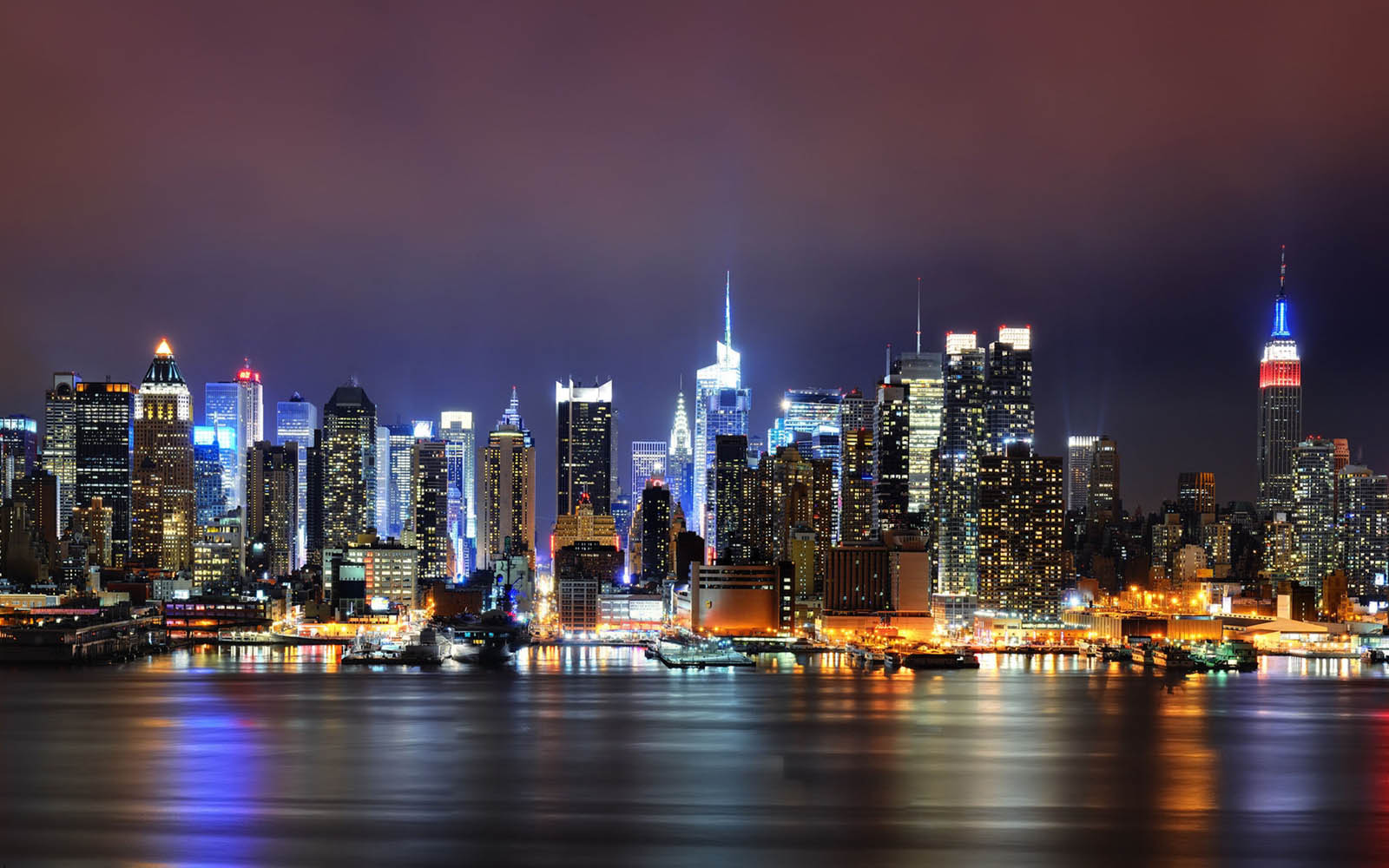 Night City Glow Wallpapers Images Photos Pictures and Backgrounds 1600x1000