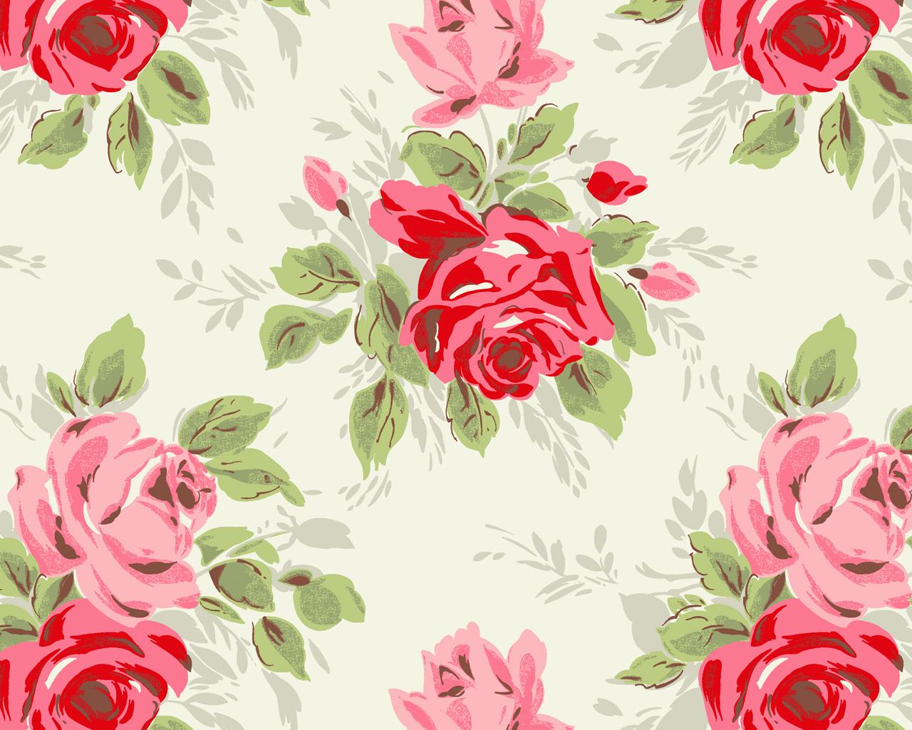 Free Download Floral Print Wallpaper Hd Wallpapers Pretty