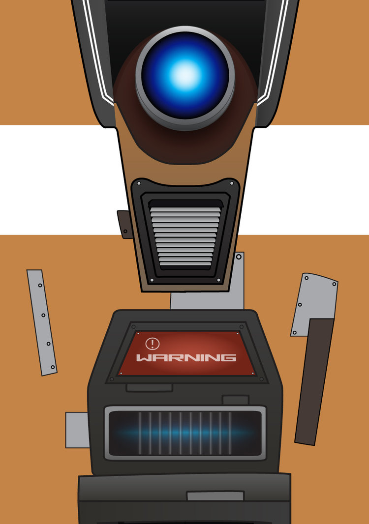 Claptrap Phone Wallpaper by CipherWolf 750x1066