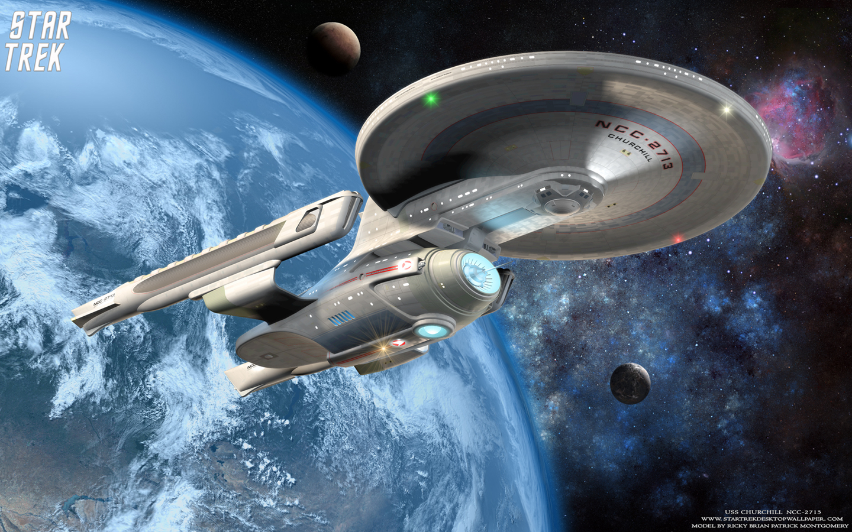 Trek USS Churchill NCC 2713 Star Trek computer desktop wallpaper 1440x900