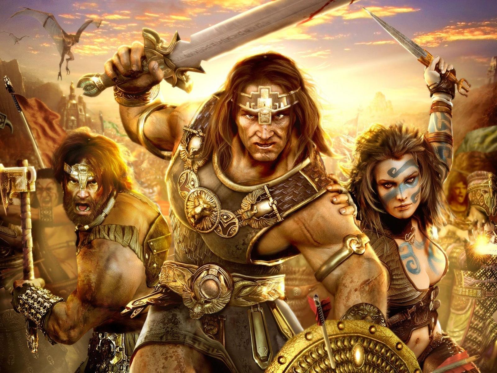 Conan   Barbarians wallpapers Age of Conan   Barbarians stock photos 1600x1200