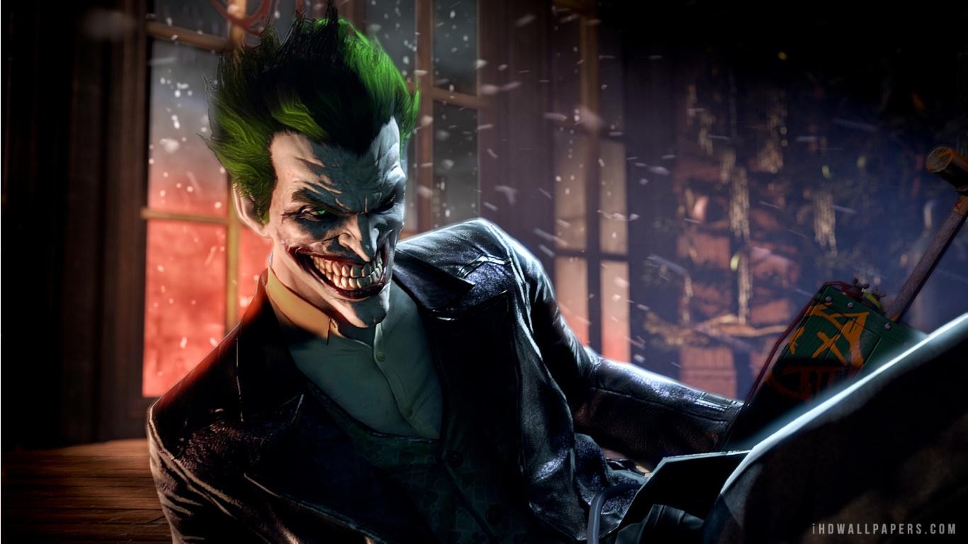 Joker Batman Arkham Origins HD Wallpaper   iHD Wallpapers 1366x768