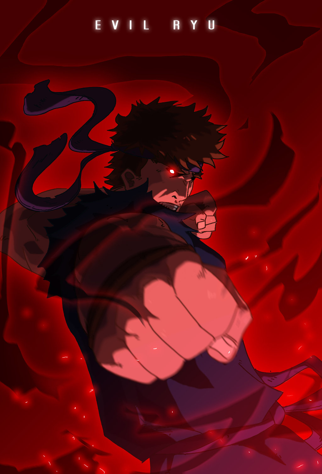 Free Download Evil Ryu By Immarart 1024x1508 For Your Desktop