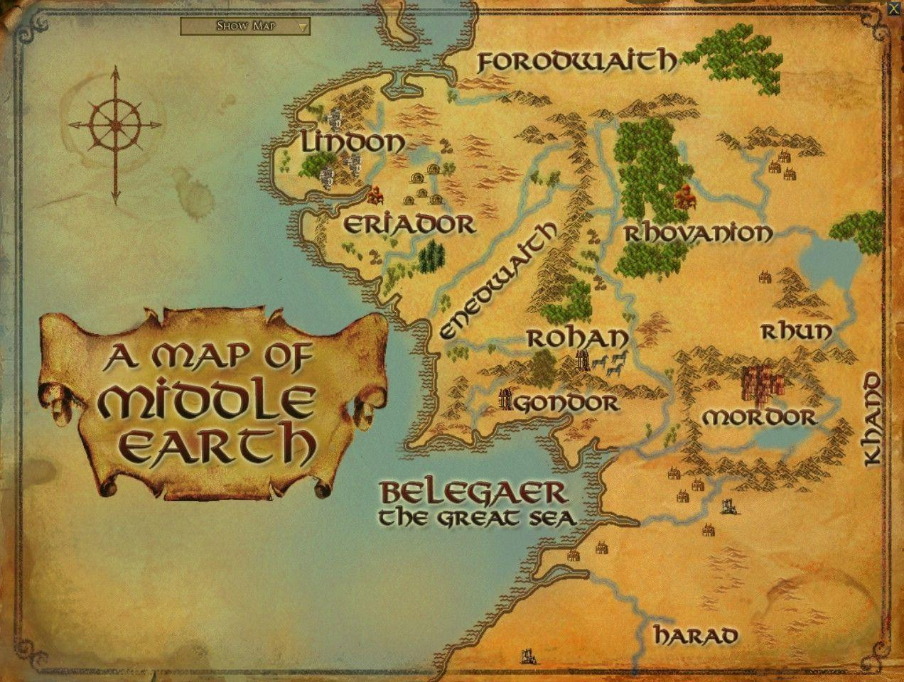 Map Of Middle Earth Wallpapers 1272x960