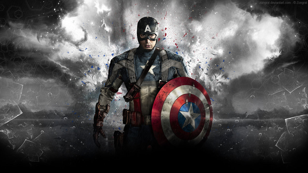 Improvised Captain America Wallpaper by Zongral 1191x670