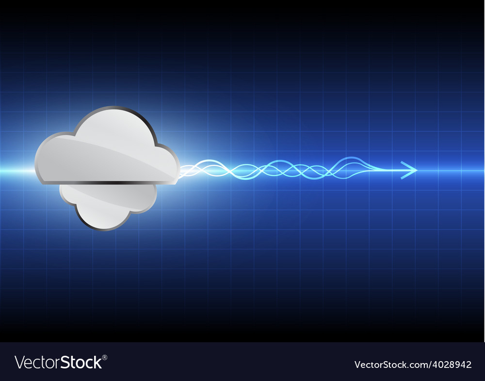 Cloud computing technology background Royalty Vector 1000x786