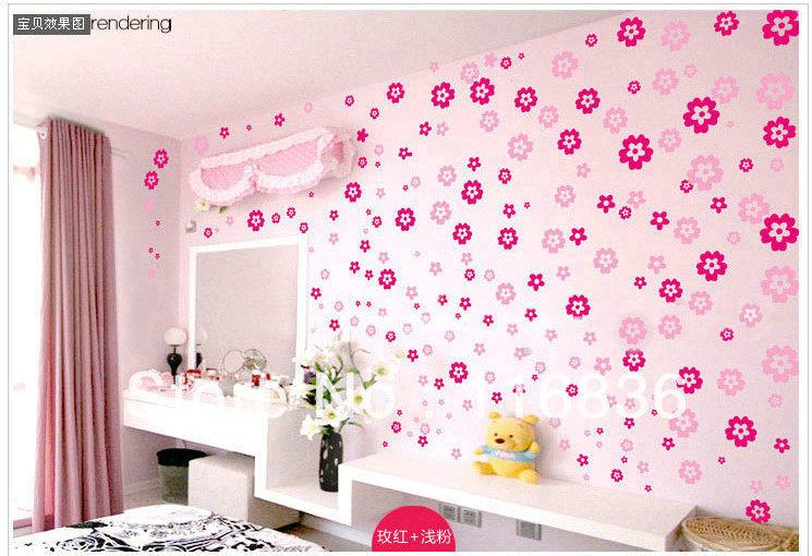NEW Cheap Vinyl flowers wall stickers home decor removable wallpaper 745x510