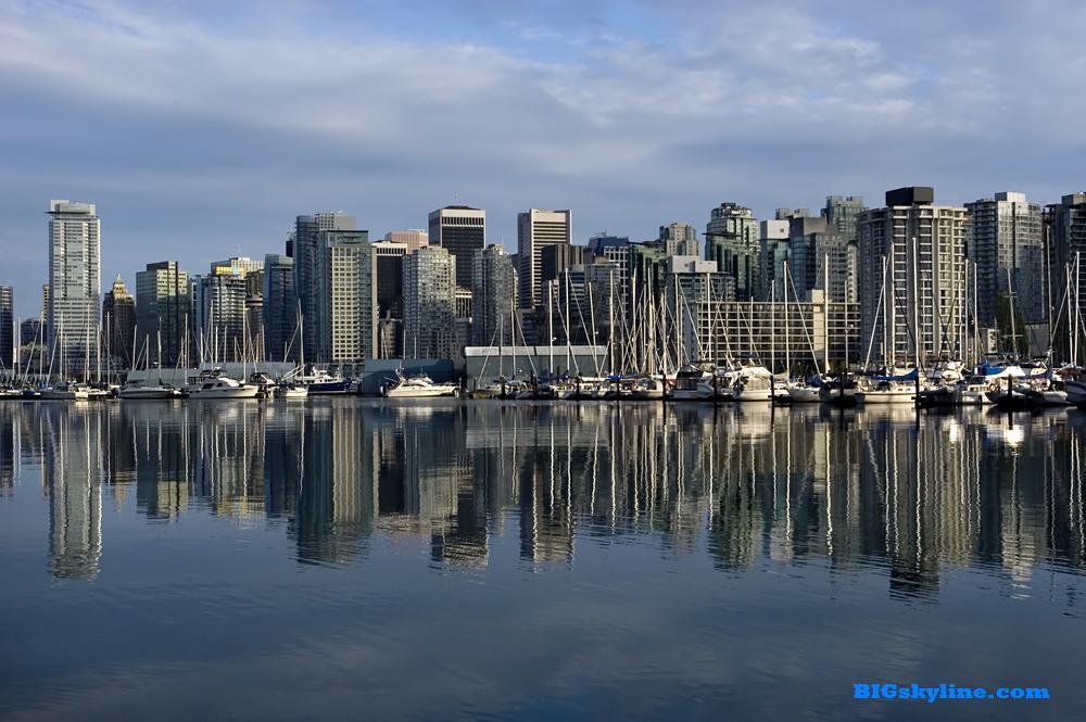 Vancouver skyline in British Columbia Canada 1000x665