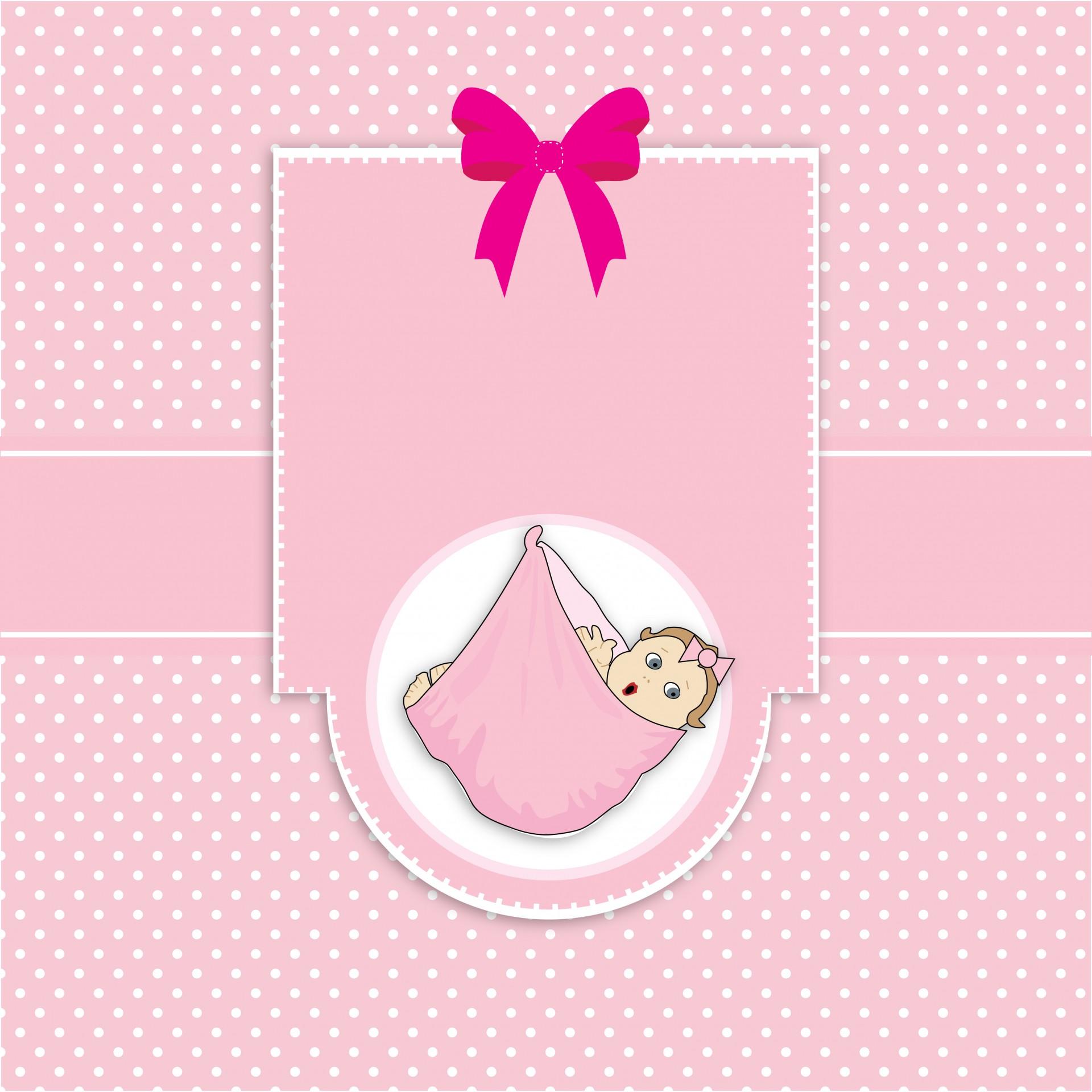 Смешные, шаблон открытки для новорожденной девочки