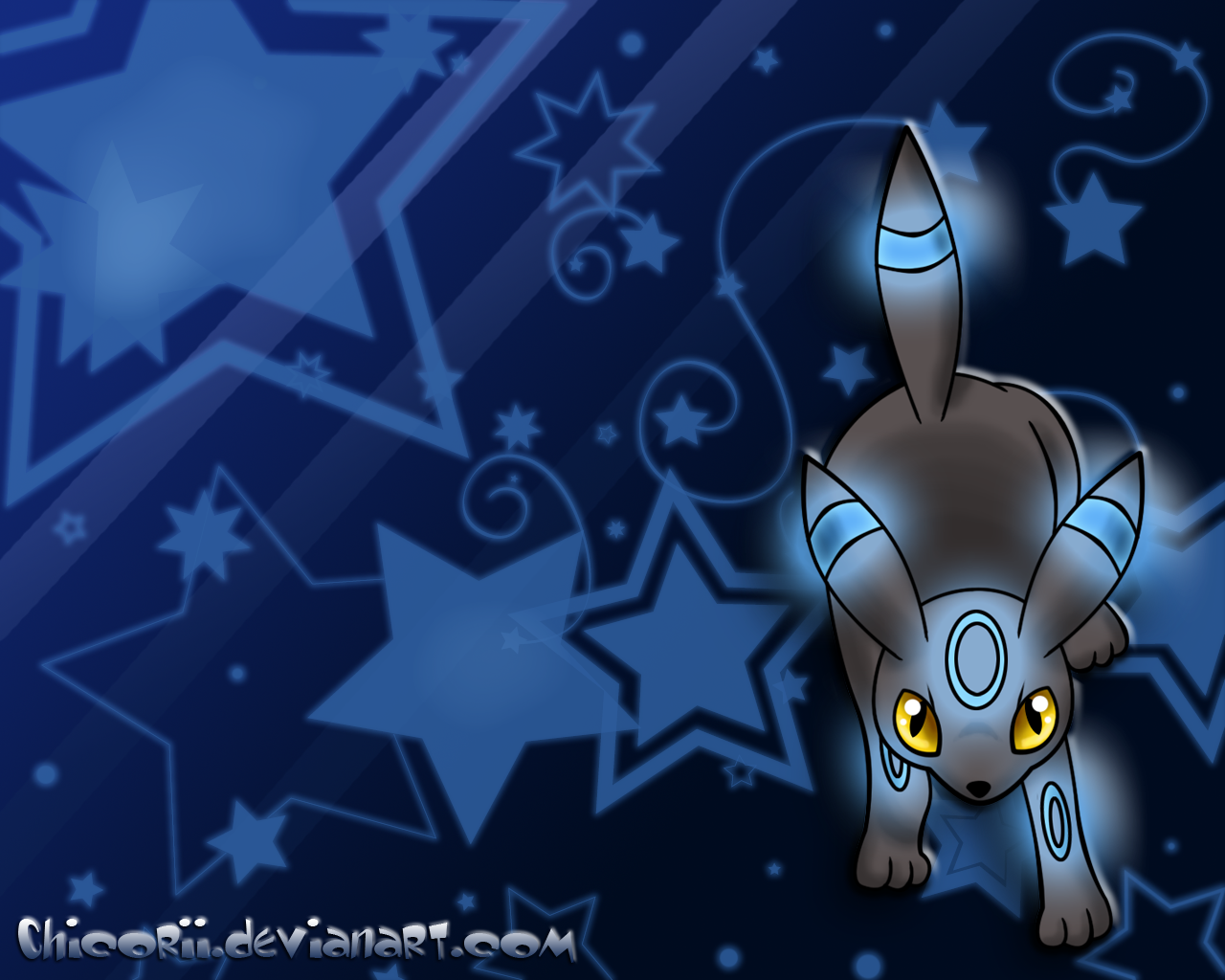 Shiny Umbreon Wallpaper by Chicorii 1280x1024