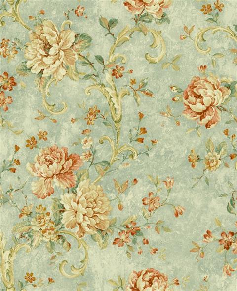 blue jacobean floral wallpaper pattern 297 41604 pattern name jacobean 480x591