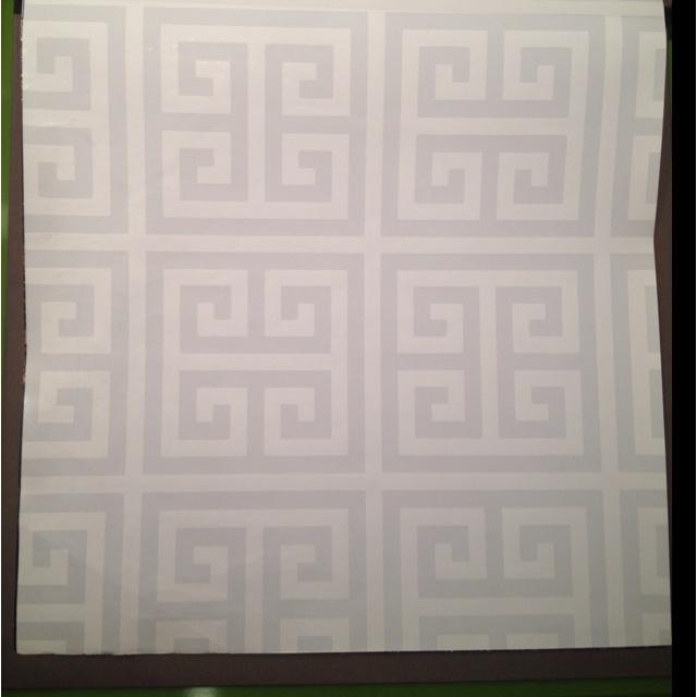 greek key wallpaper jonathan adler interior design Pinterest 640x640