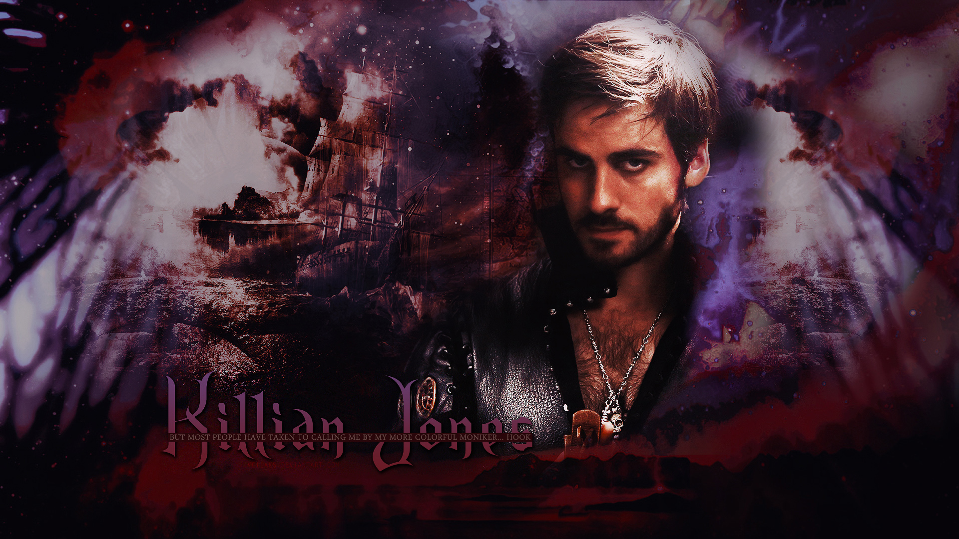 Once Upon A Time Wallpaper Captain Swan