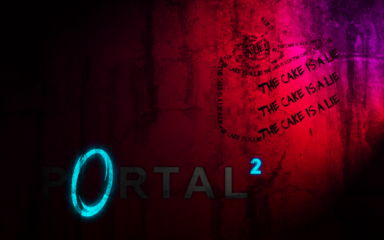 portal 2 cake wallpaper by stephensheehan fan art wallpaper games 2010 1280x800