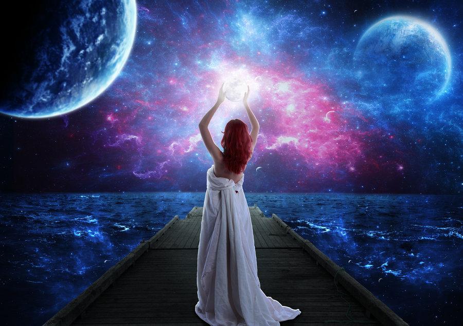 The Moon Goddess by Jezzy Art 900x635
