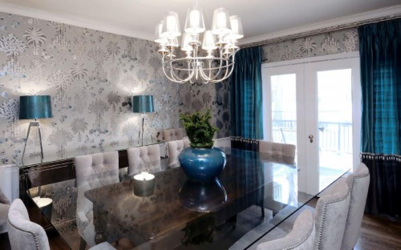 Contemporary dining room wallpaper inspiring wallpaper ideas 1280x798