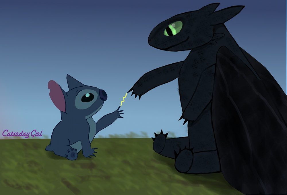 Toothless stitch by CaterdayGirl 1000x680