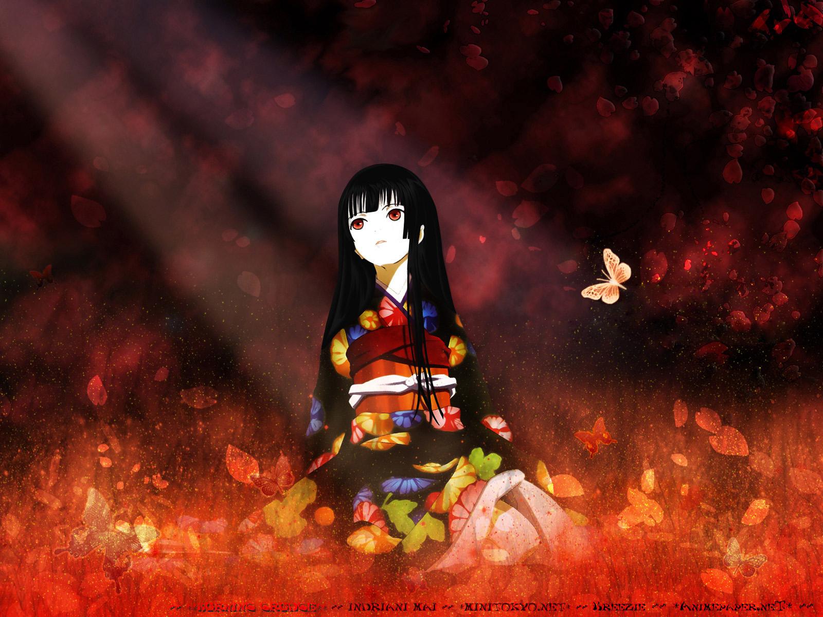 Jigoku Shojo Hell Girl ea wallpaper 1600x1200 136561 WallpaperUP 1600x1200