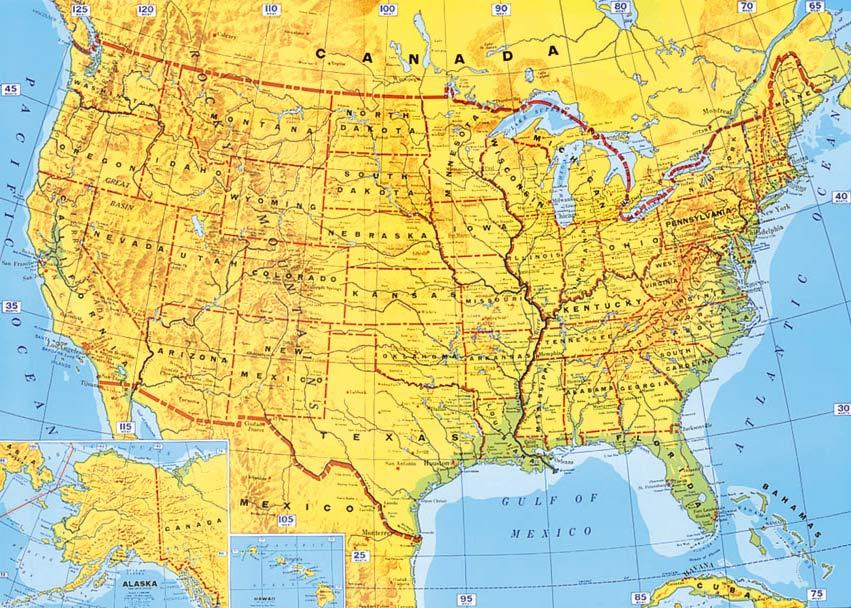 Wallpaper Maps Of USA WallpaperSafari - Usa map