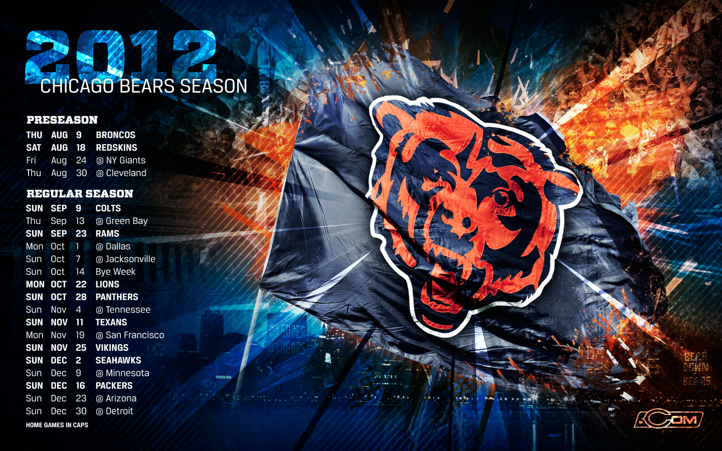 Chicago Bears wallpaper HD background Chicago Bears wallpapers 1440x900