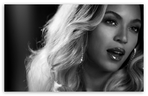 Beyonce Black And White Portrait 4K HD Desktop Wallpaper 510x330