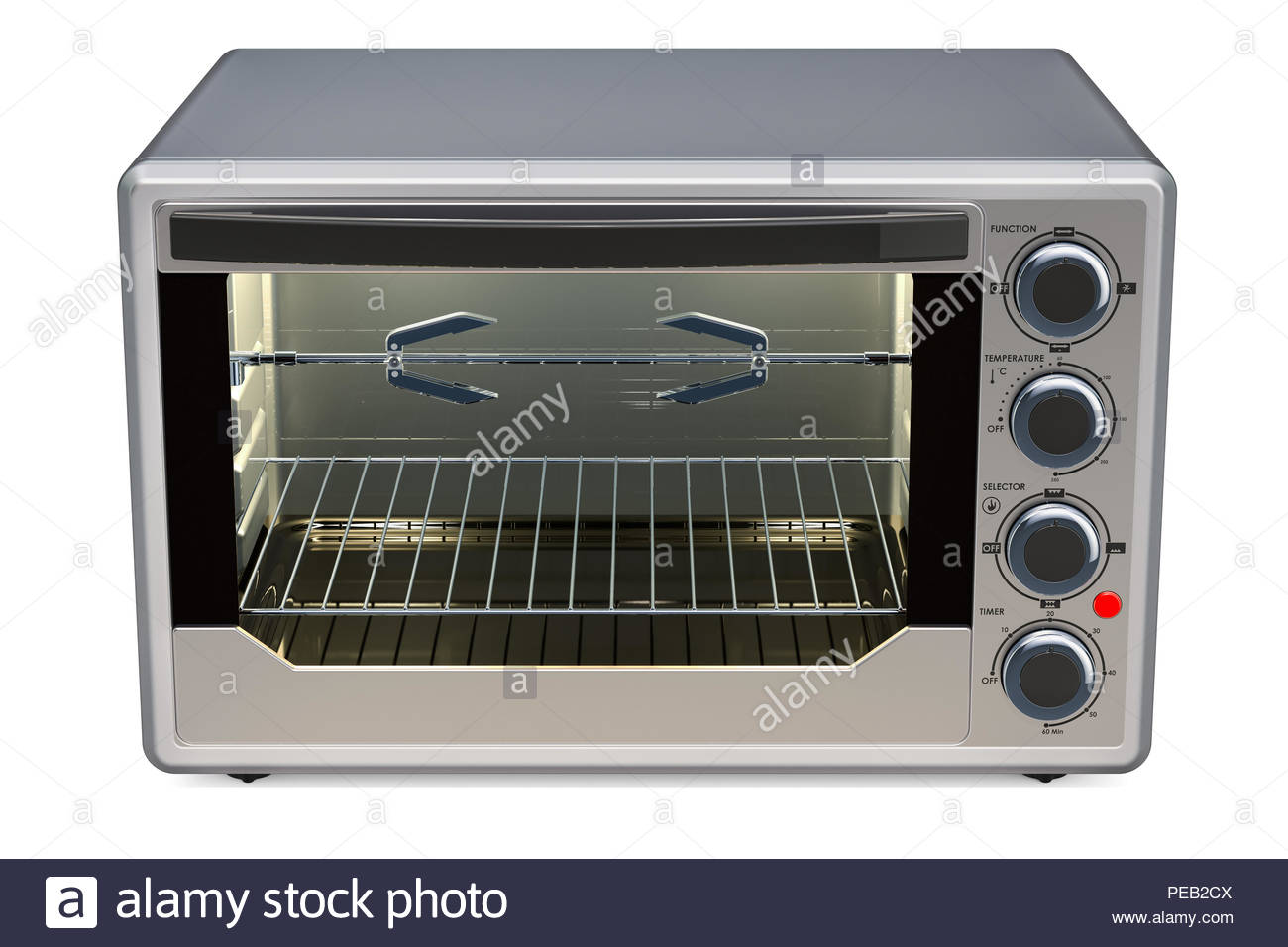 Convection Toaster Oven with Rotisserie and Grill 3D rendering 1300x956